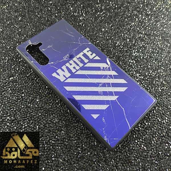 قاب Blue سامسونگ Note 10 طرح White off کد SA371E