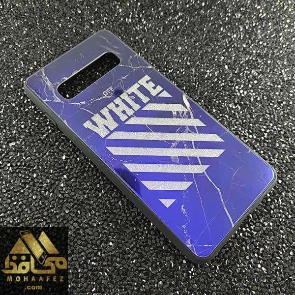 قاب Blue سامسونگ S10 طرح White off کد SA371E