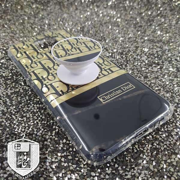 قاب پاپ سوکت دار شیائومی Redmi Note 9 طرح دیور Dior کد XM296A