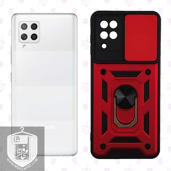 قاب ضد ضربه سامسونگ Galaxy A42 دارای هولدر و محافظ لنز کد SA507