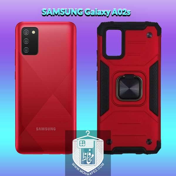 قاب ضد ضربه بتمن سامسونگ Galaxy A02s هولدر دار کد SA463