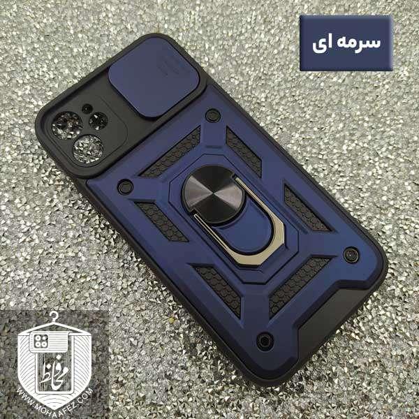 قاب ضد ضربه آیفون Iphone 11 دارای هولدر و محافظ لنز کد IP718
