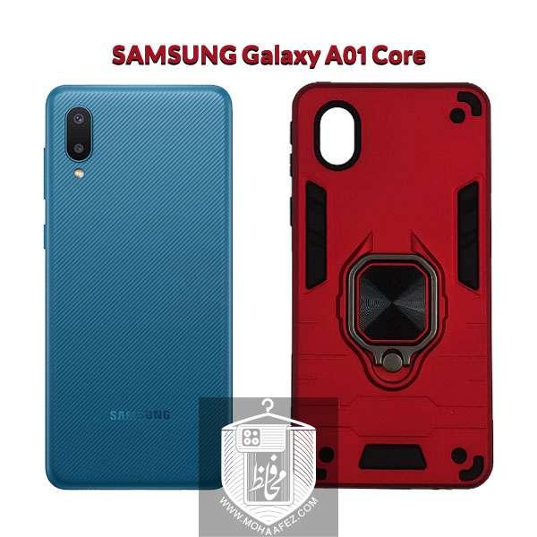 قاب ضد ضربه بتمن سامسونگ Galaxy A01 Core هولدر دار کد SA513
