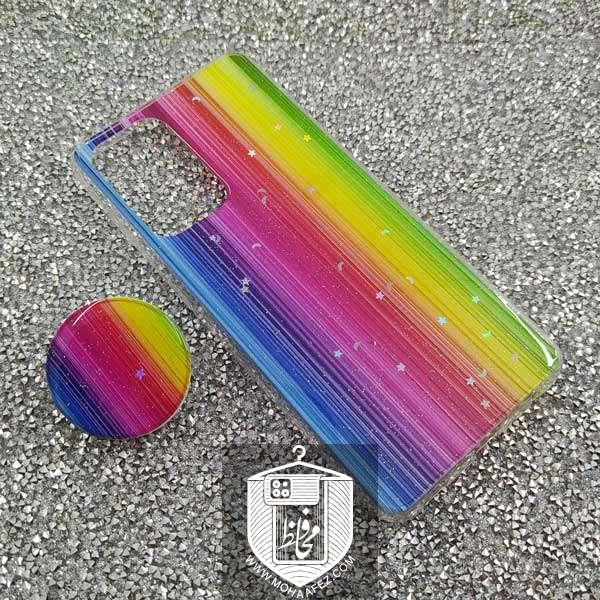 قاب رنگین کمانی سامسونگ Galaxy A52 پاپ سوکت دار کد SA489C