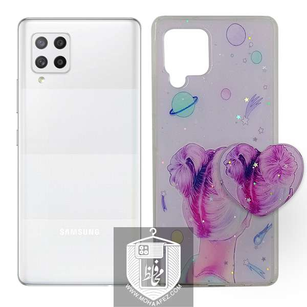 قاب فانتزی پاپ سوکت دار سامسونگ Galaxy A42 طرح قلب کد SA510A