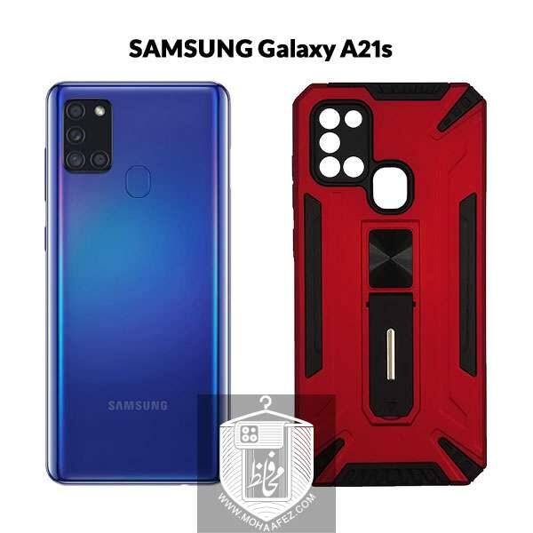 قاب ضد ضربه سامسونگ Galaxy A21s هولدر دار کد S02A