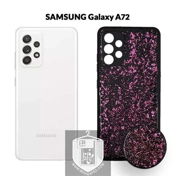 قاب اکلیلی سامسونگ Galaxy A72 به همراه پاپ سوکت کد SA520