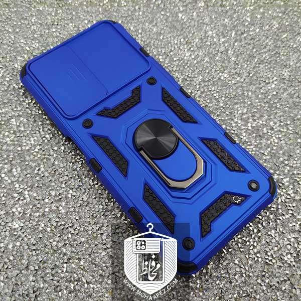 قاب ضد ضربه شیائومی Redmi Note 10 4G / 10s به همراه محافظ کشویی لنز و هولدر کد X03